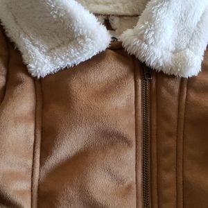 Faux fur toddler girl coat